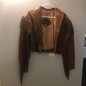 Eathery Originals leather fringe jacket L